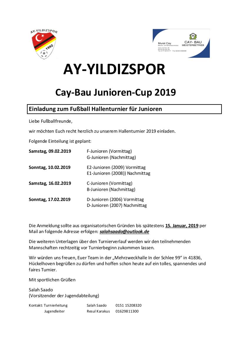 Ay-Yildizspor Cay-Bau Junioren Cup 2019