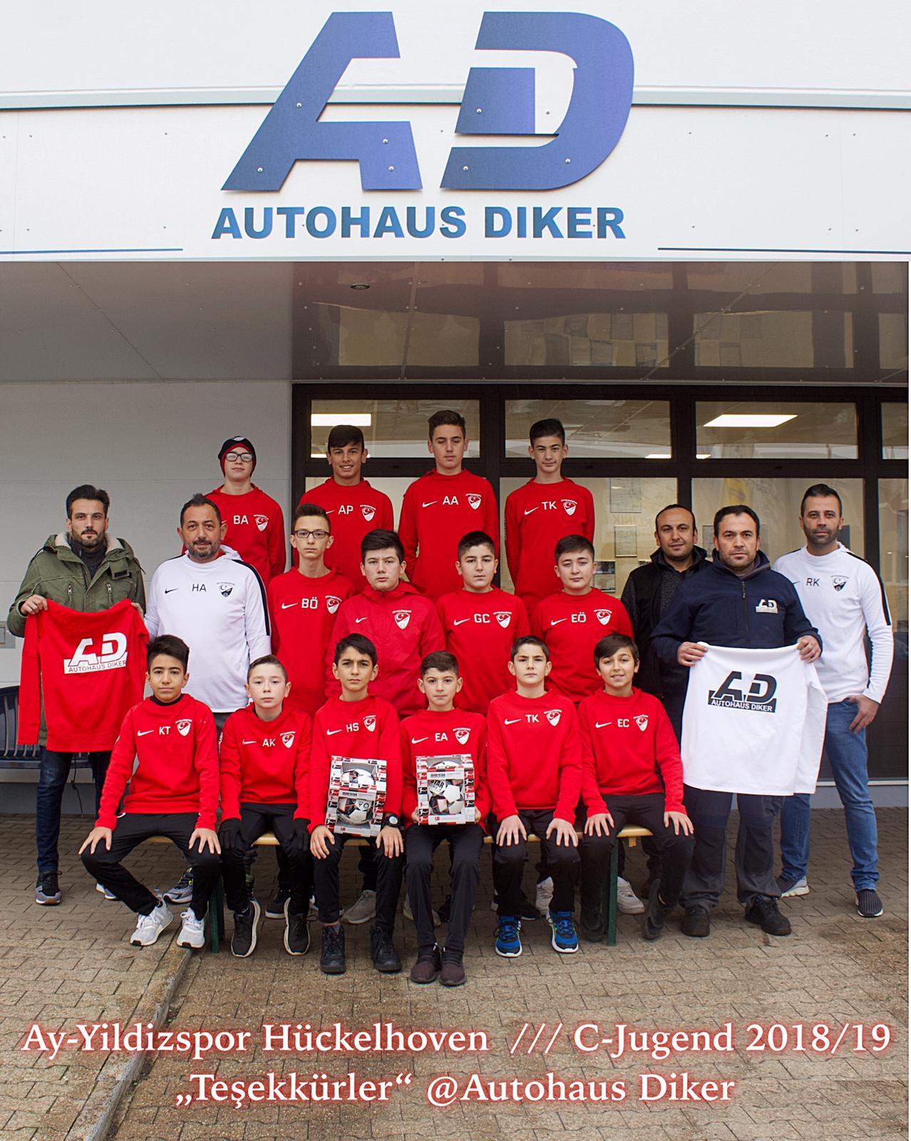 Autohaus Diker sponsert C-Jugend