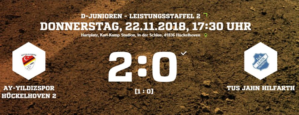 D2-Junioren siegen gegen TuS Jahn Hilfarth