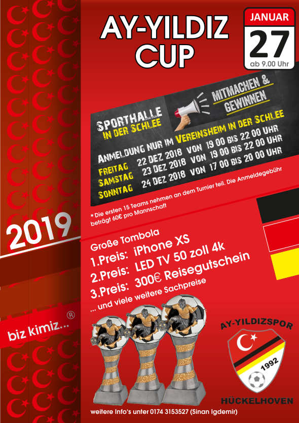 Ay-Yildiz Cup 2018 wird im Januar ausgetragen!