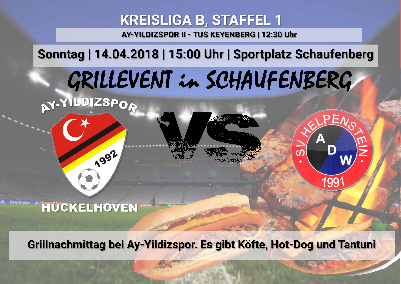 Grillfest AY-YILDIZSPOR – SV HELPENSTEIN II / Spielabsage erste Mannschaft