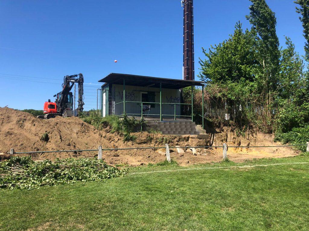 Umbaumaßnahmen am Sportplatz in Schaufenberg