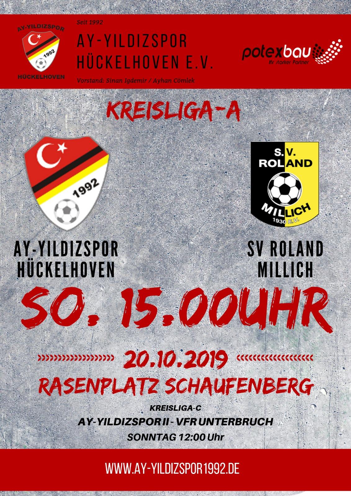 Topspiel gegen SV Roland Millich am Sonntag